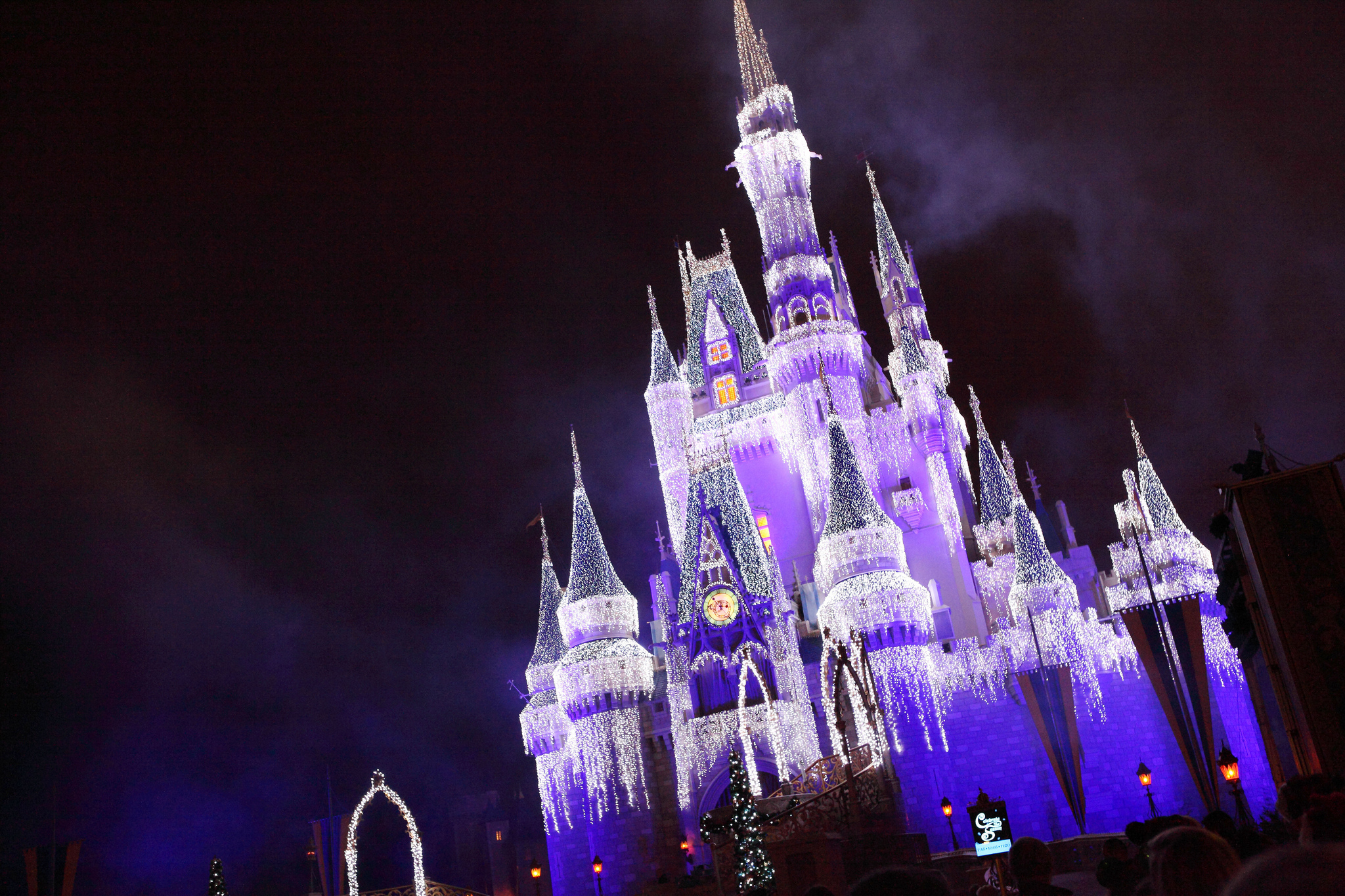 castle dream lights and a frozen holiday wish